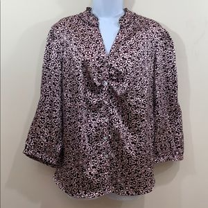 CATO Button Up V-Neck Shirt  Size 18 / 20 W